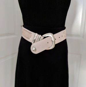 Ivory Woven Sling Belt Size Medium